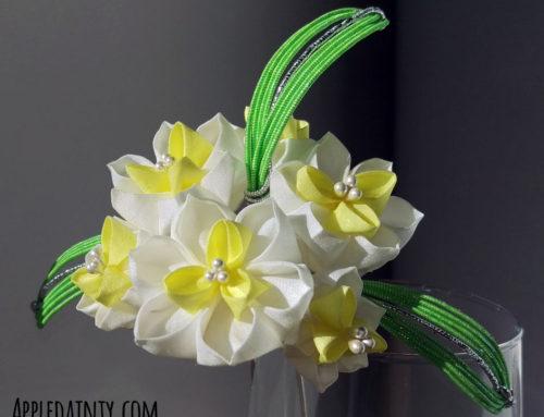 Narcissus and Lily Kanzashi