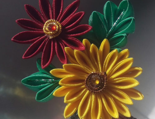 Chrysanthemum Kanzashi and Calgary Holiday Market Preparations