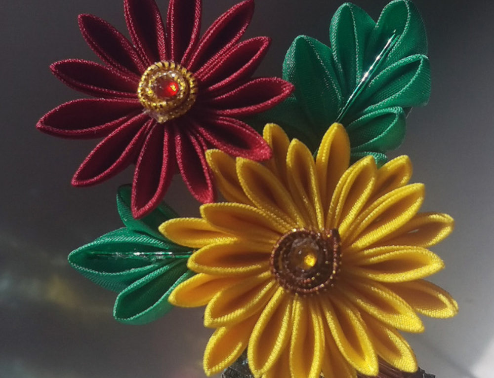 Chrysanthemum Kanzashi and Calgary Holiday Market Preparations
