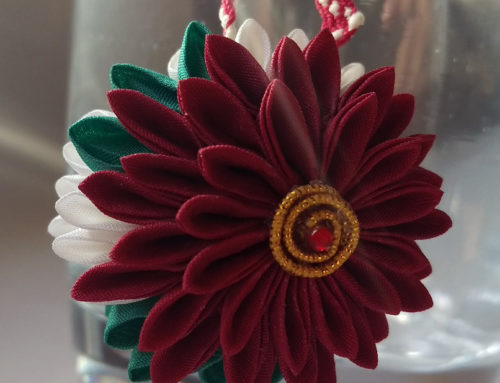 Tsumami Christmas Ornaments – and Etsy Shop Update!