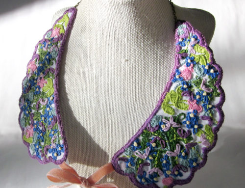 Embroidered Wildflower Collar