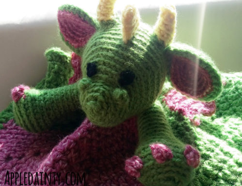Crochet Dragon Security Blankie