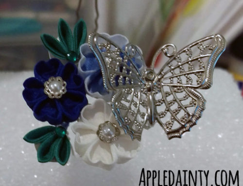 Royal Blue Bridal Kanzashi Set