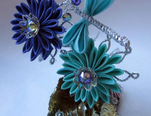 Clematis & Chrysanthemum Medium Hair Pins