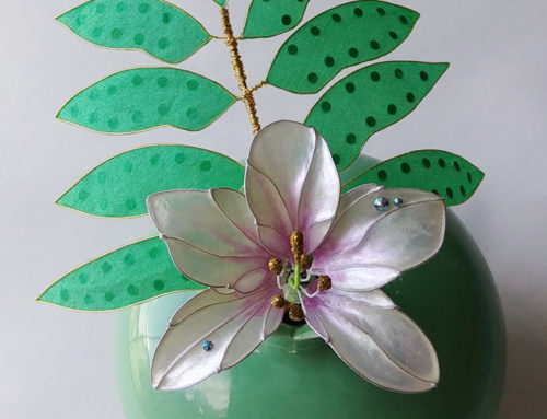 Orchid and Fern Kanzashi