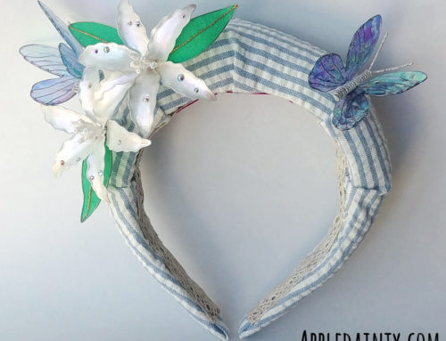 Lily and Butterfly Padded Headband
