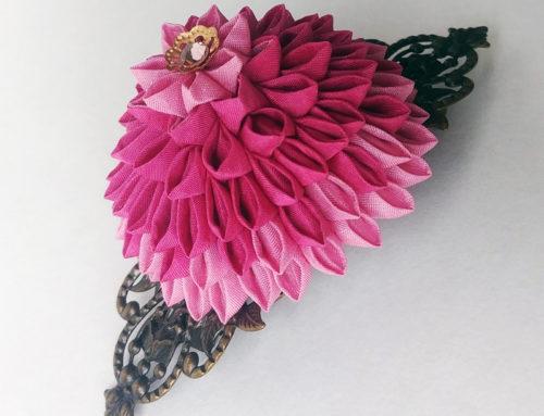 Dahlia & Hydrangea Hair Clips