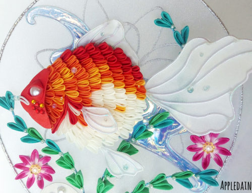 Fancy Goldfish Uchiwa Kanzashi