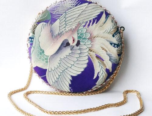 Phoenix Kimono Remake Clutch