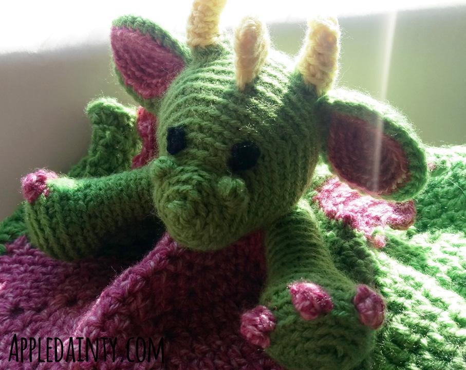 Crochet Dragon Security Blankie
