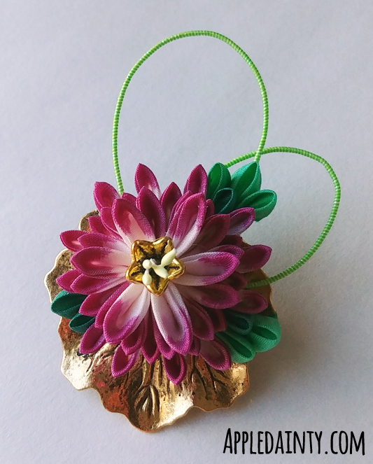 Barrettes & Water Lily Brooch