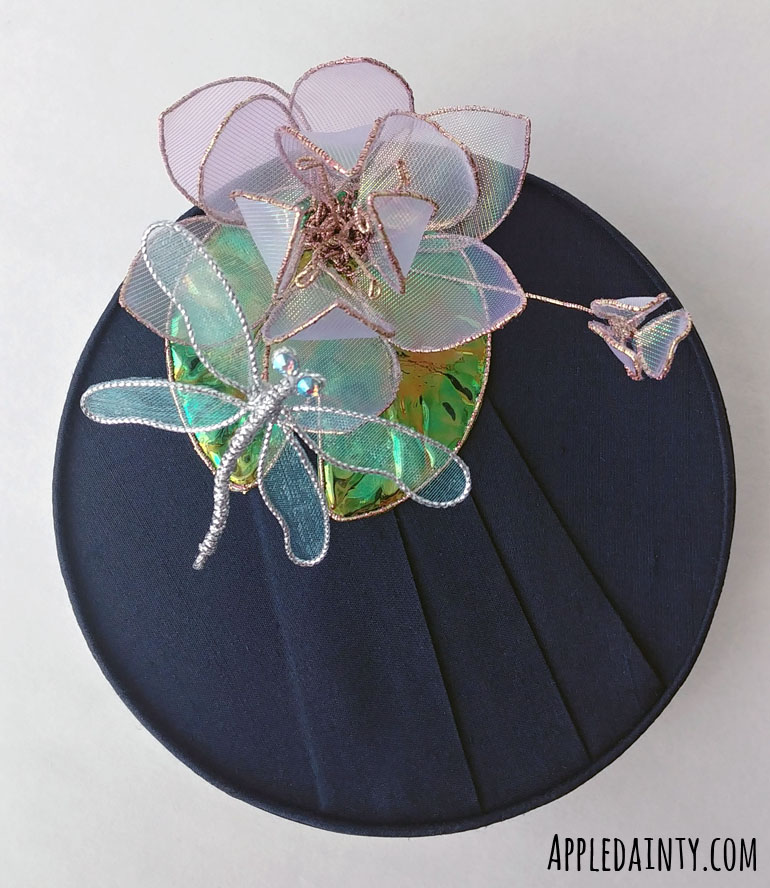 Waterlily and Dragonfly Pillbox Hat