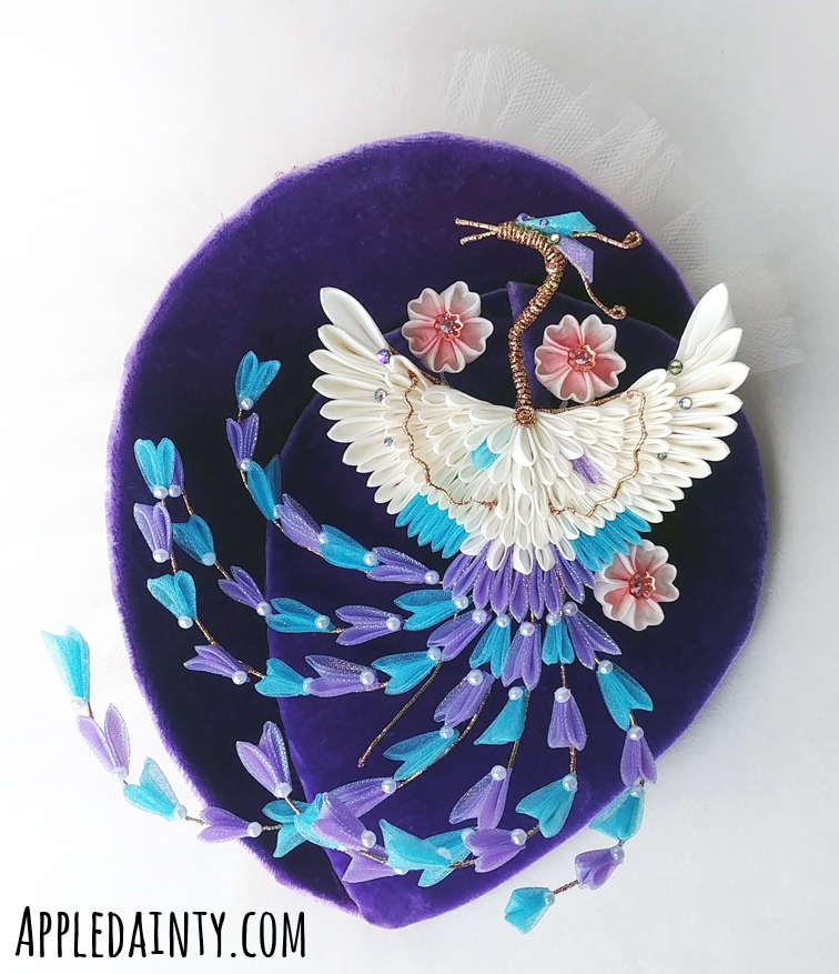 From the Ashes – A Many Tailed Phoenix Fascinator