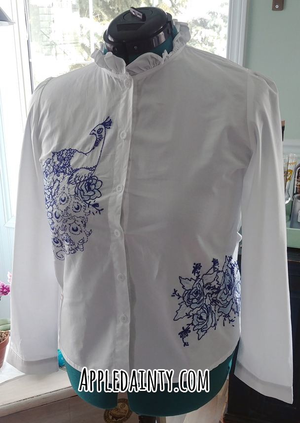Peacock Embroidered Shirt